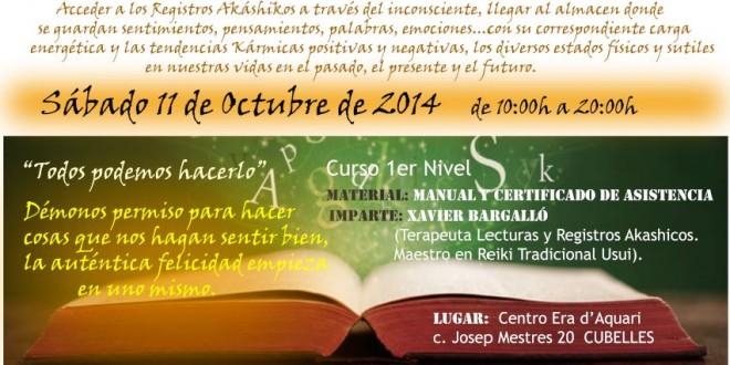 11 de Octubre Curso de Lecturas y Registros Akáshikos