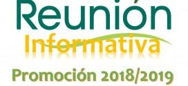 21 de Julio – Reunión Informativa Curso Técnico en Quiromasaje 2018-2019